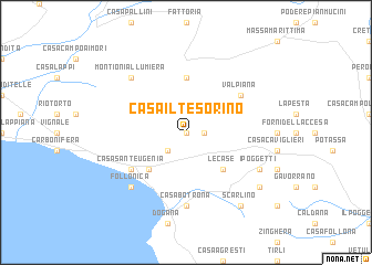 map of Casa il Tesorino