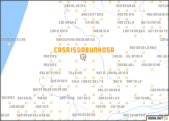 map of Casais da Bunhosa