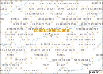 map of Casal de São João