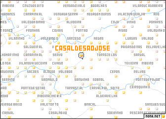 map of Casal de São José