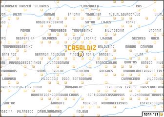 map of Casal Diz