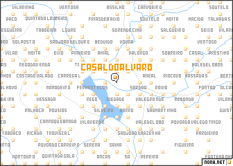 map of Casal do Alvaro