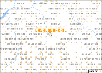 map of Casal do Barril