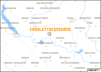 map of Casaletto Ceredano