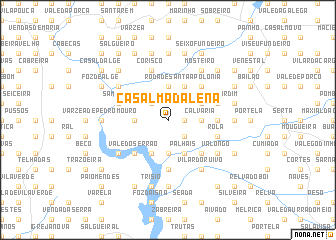 map of Casal Madalena