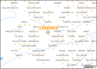 map of Casanova