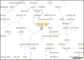 Cascia (Italy) map   nona.net