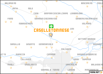 map of Caselle Torinese