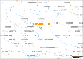 map of Casinetto