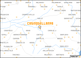 map of Casino dell'Arpa