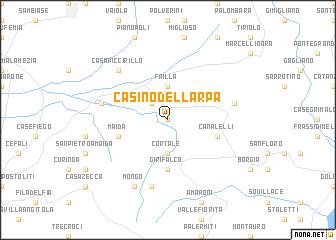 map of Casino dell'Arpa