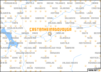 map of Castanheira do Vouga