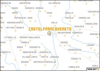 Castelfranco Veneto (Italy) map - nona.net