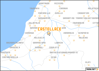 map of Castellace