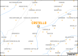 map of Castello
