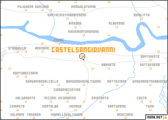 map of Castel San Giovanni