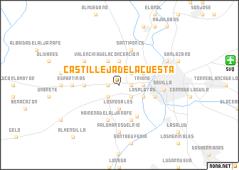 map of Castilleja de la Cuesta