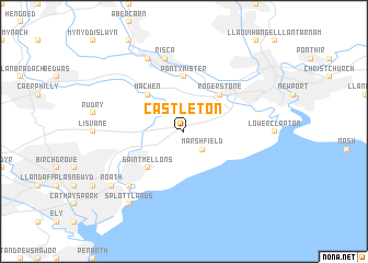 map of Castleton