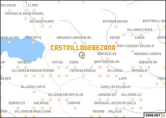 map of Castrillo de Bezana