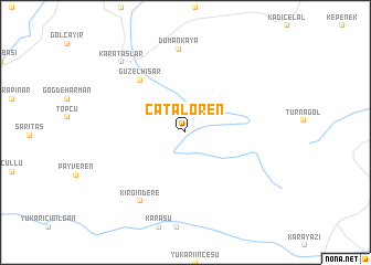 map of Çatalören