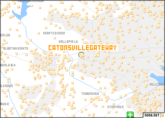 map of Catonsville Gateway