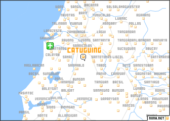 map of Catuguing