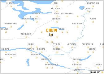 map of Čaupi