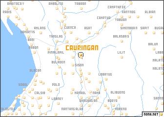 map of Cauriñgan