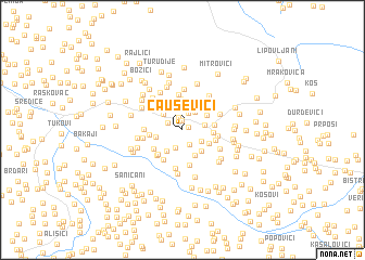 map of Čauševići