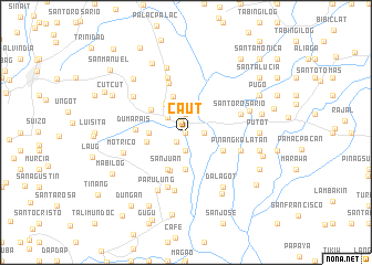 map of Caut