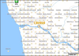 map of Cavada