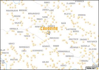 map of Ćavarine