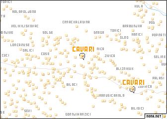 map of Čavari