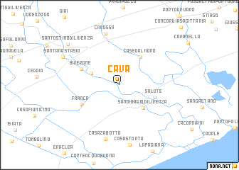 map of Cava