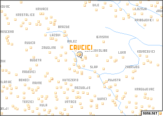 map of Čavčići