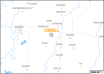 map of Cavell