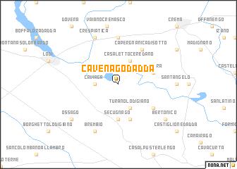 map of Cavenago d'Adda