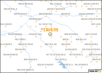 map of Cavens