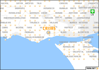 map of Caxias