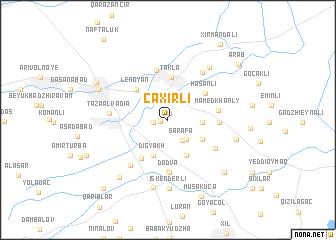 map of Çaxırlı