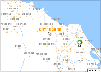 map of Cayangwan