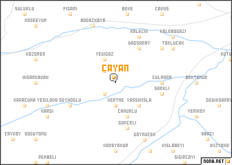map of Çayan