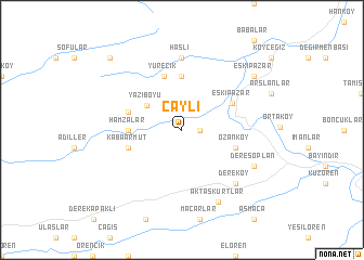 map of Çaylı
