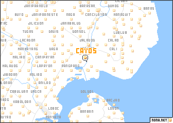 map of Cayos