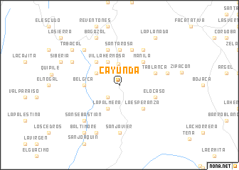 map of Cayunda