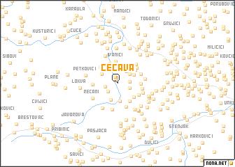 map of Čečava