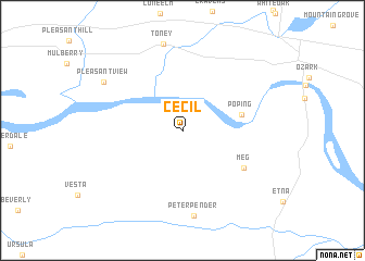 map of Cecil