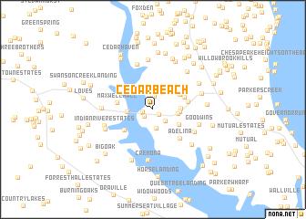 map of Cedar Beach