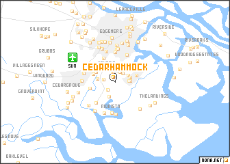 map of Cedar Hammock