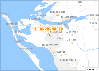 map of Cedar Hammock